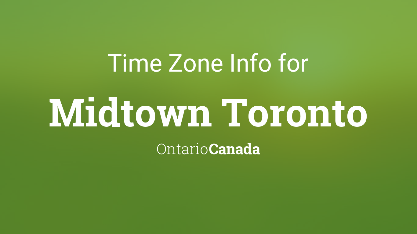 What time zone is toronto canada