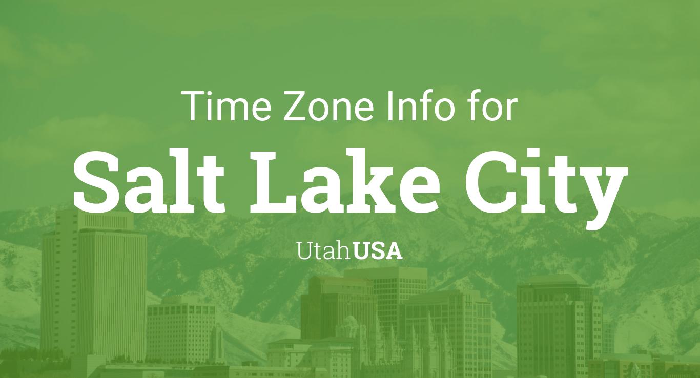 Salt Lake City Time Zone Map.Time Zone Clock Changes In Salt Lake City Utah Usa