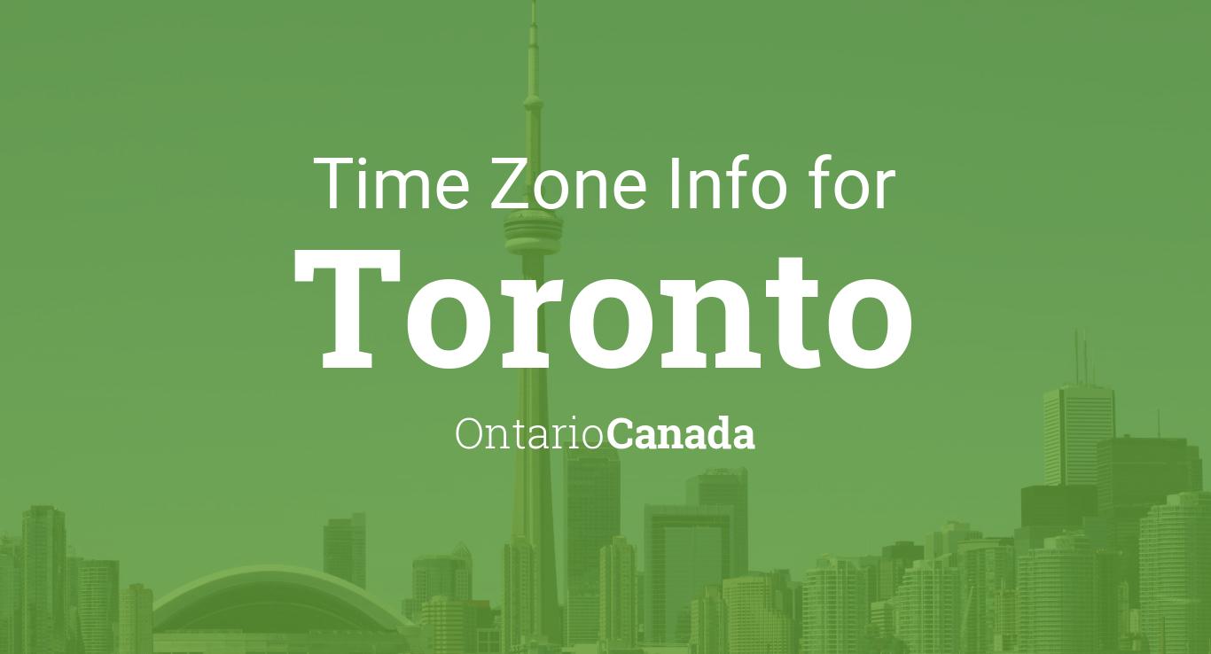 Daylight saving time dates for Canada  Ontario  Toronto between