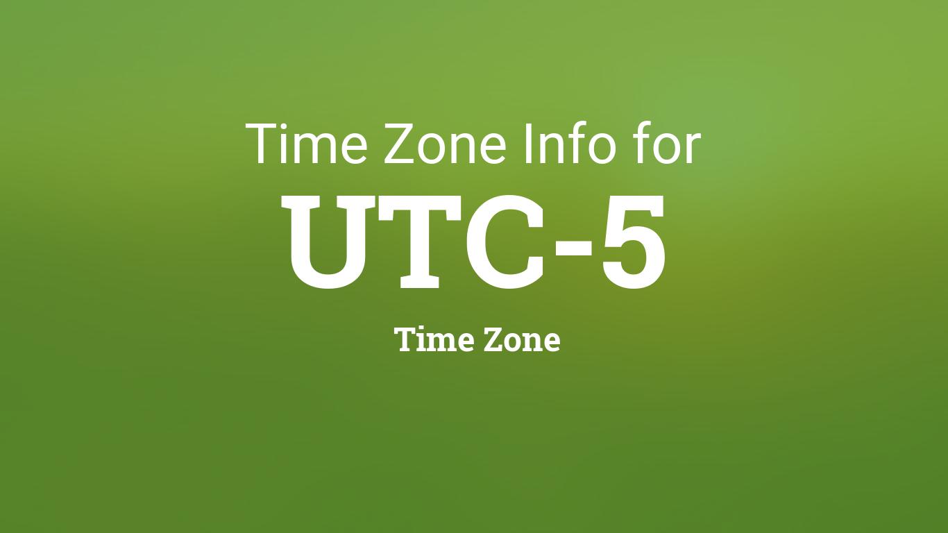 Utc 2022 Calendar.Time Zone Clock Changes In Utc 5 Time Zone