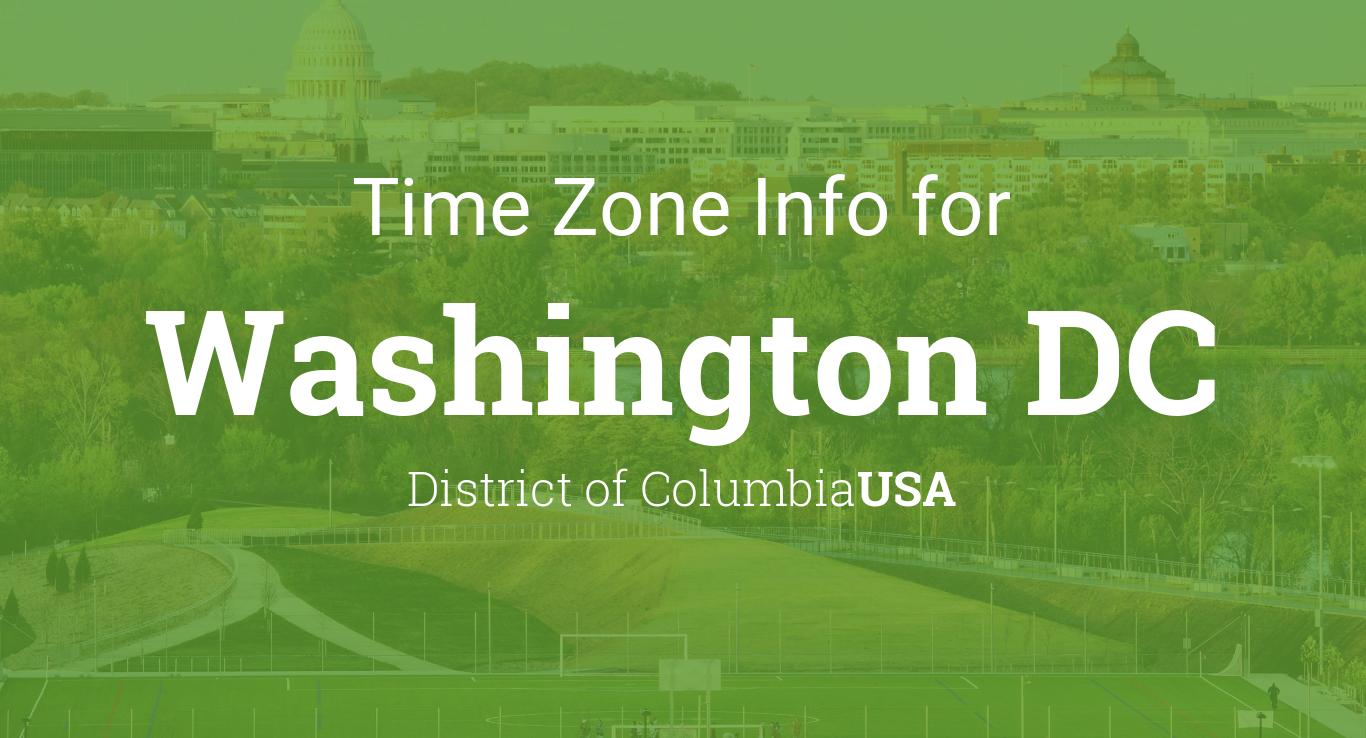 Daylight saving time dates for USA  Washington DC between 2016