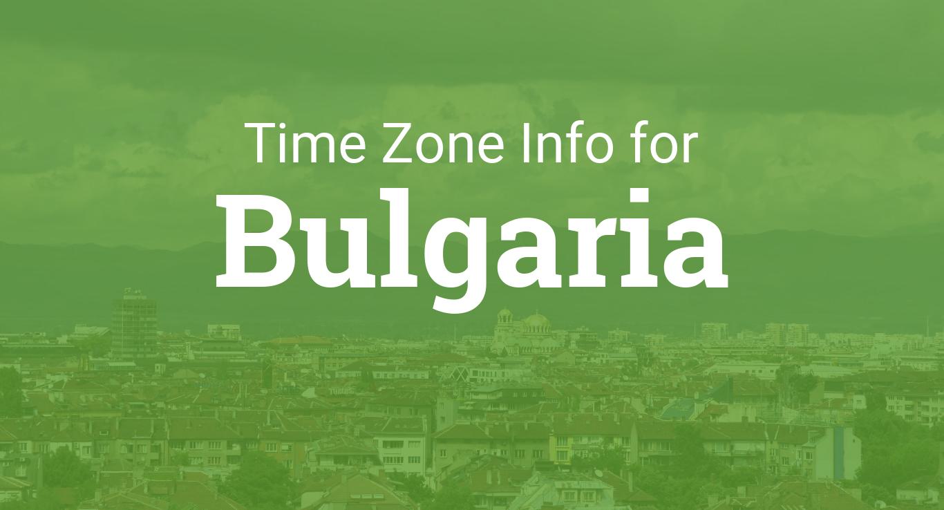 Time Zones In Bulgaria - Bulgaria time zone map