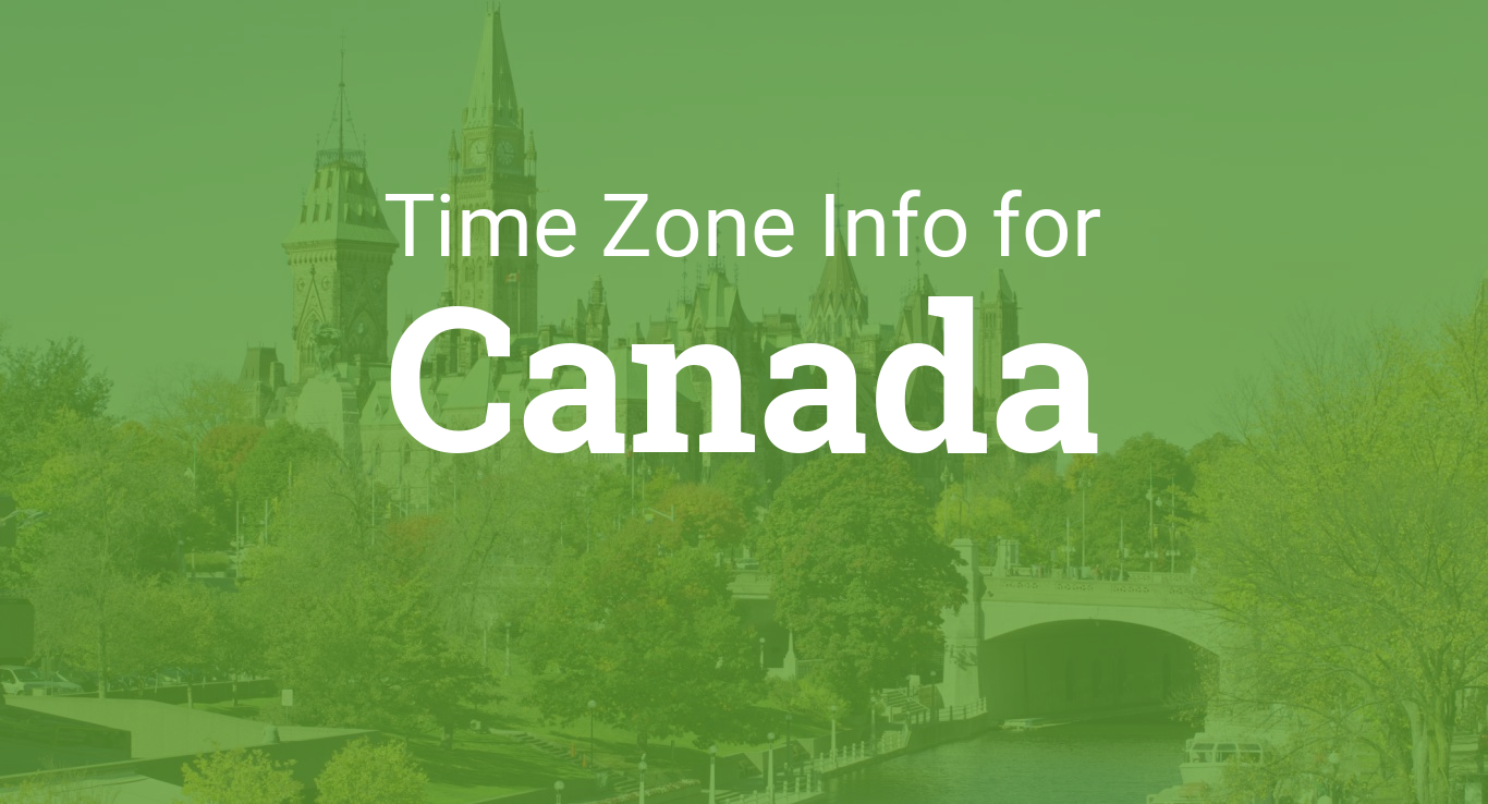 Time Zones In Canada
