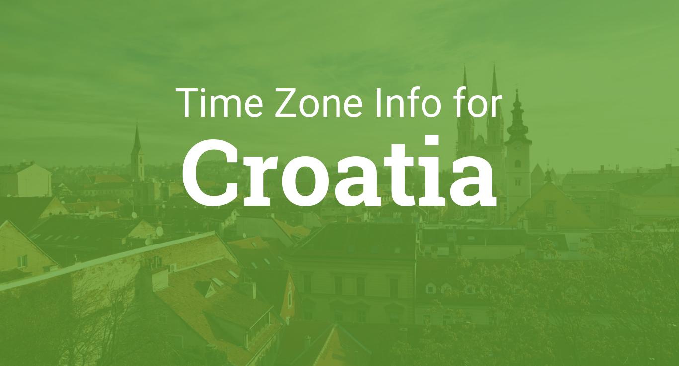 Time Zones In Croatia