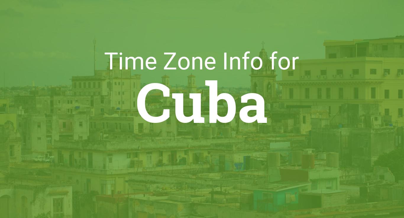 Time Zones in Cuba