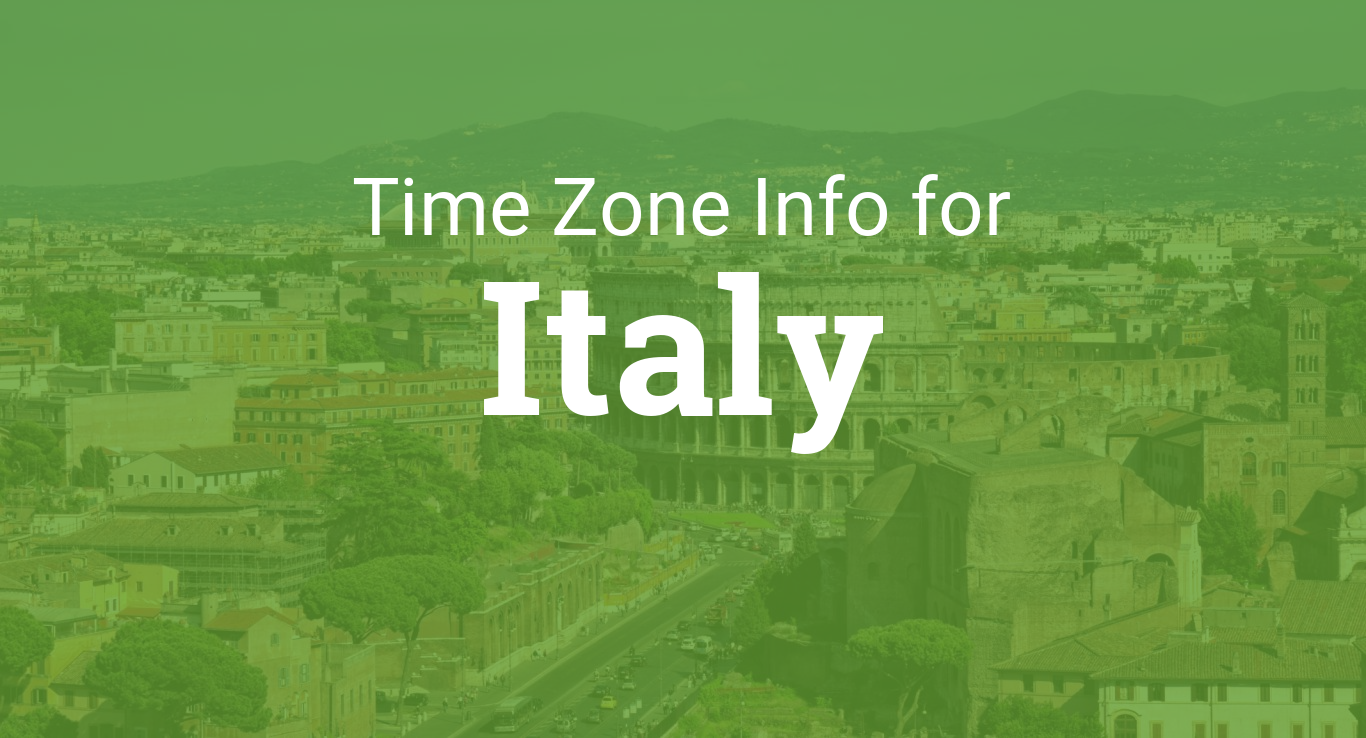 Time Zones in Italy