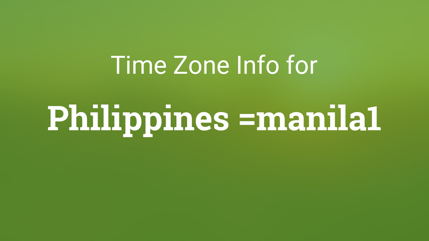 Time Zone in Philippines