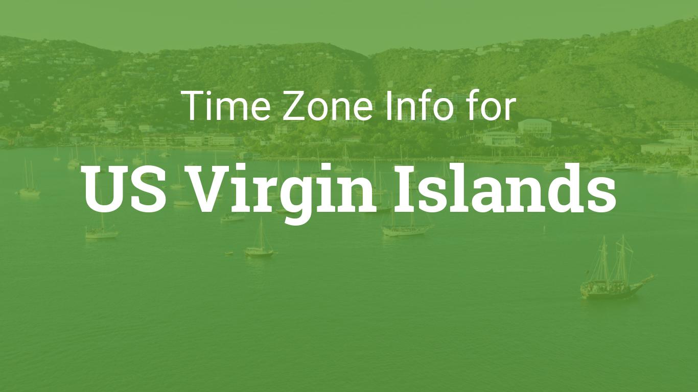 Time Zones In Us Virgin Islands - Us-virgin-islands-time-zone-map