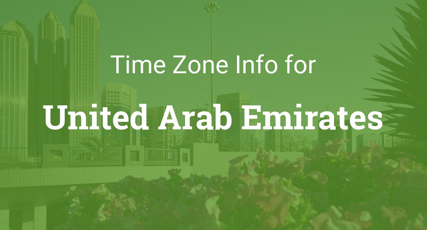 Time Zones in United Arab Emirates