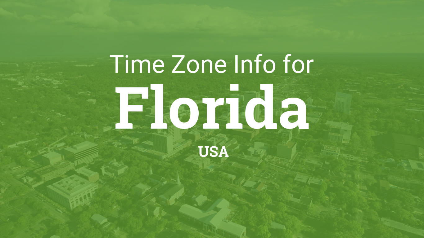 Time Zones In Florida United States