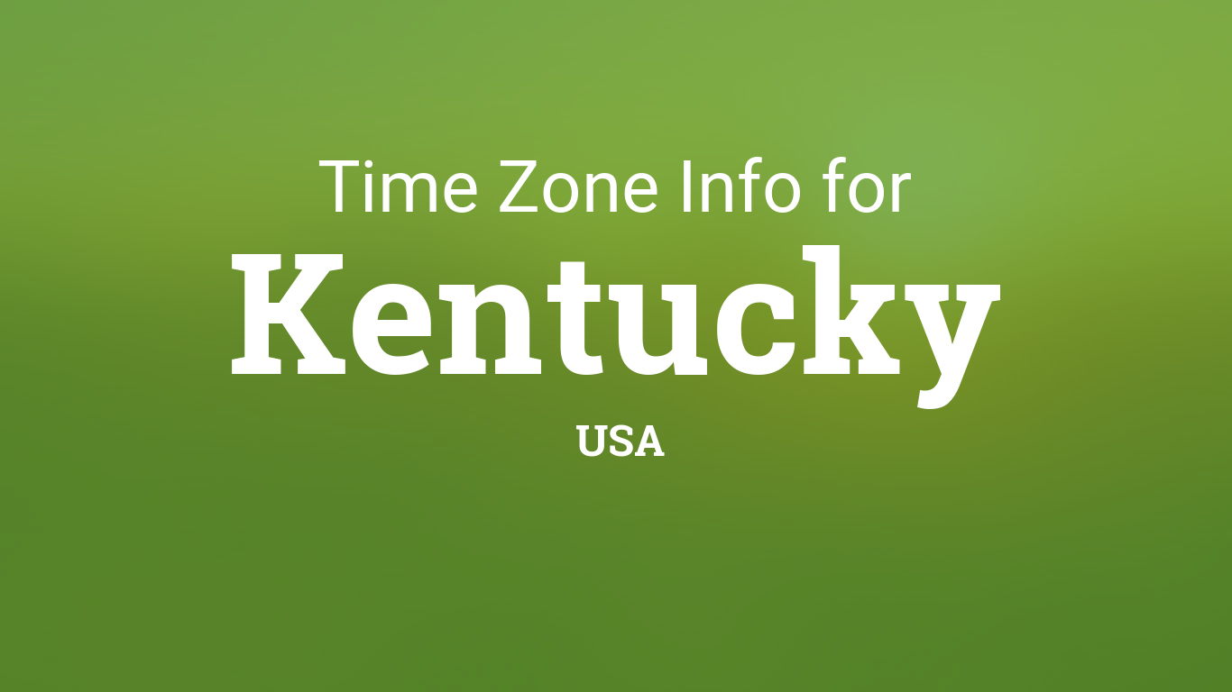 Time Zones in Kentucky, United States