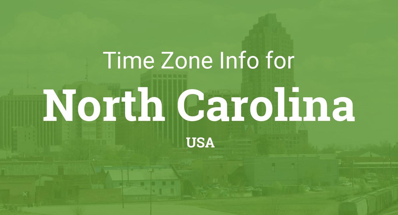 Time Zones In North Carolina United States - North carolina time zone