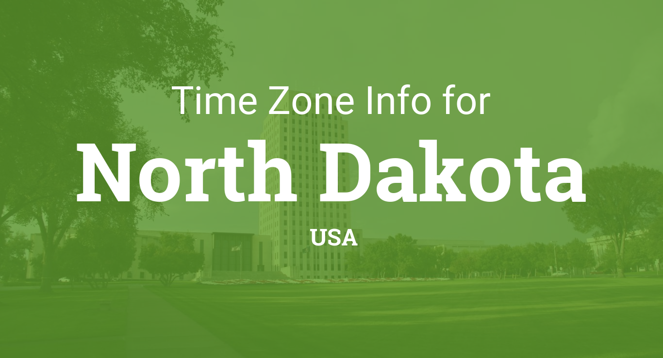 Time Zones in North Dakota United States