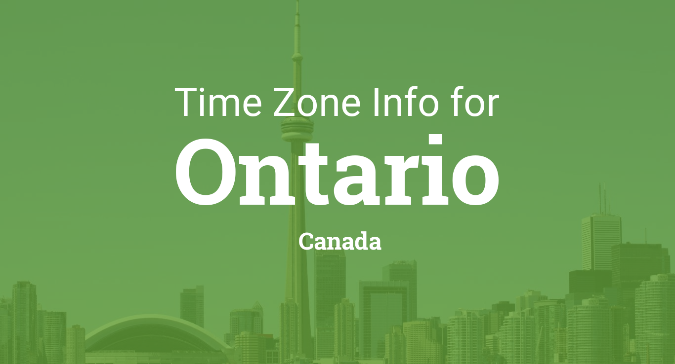 Ontario Canada Time Zone Map.Time Zones In Ontario Canada