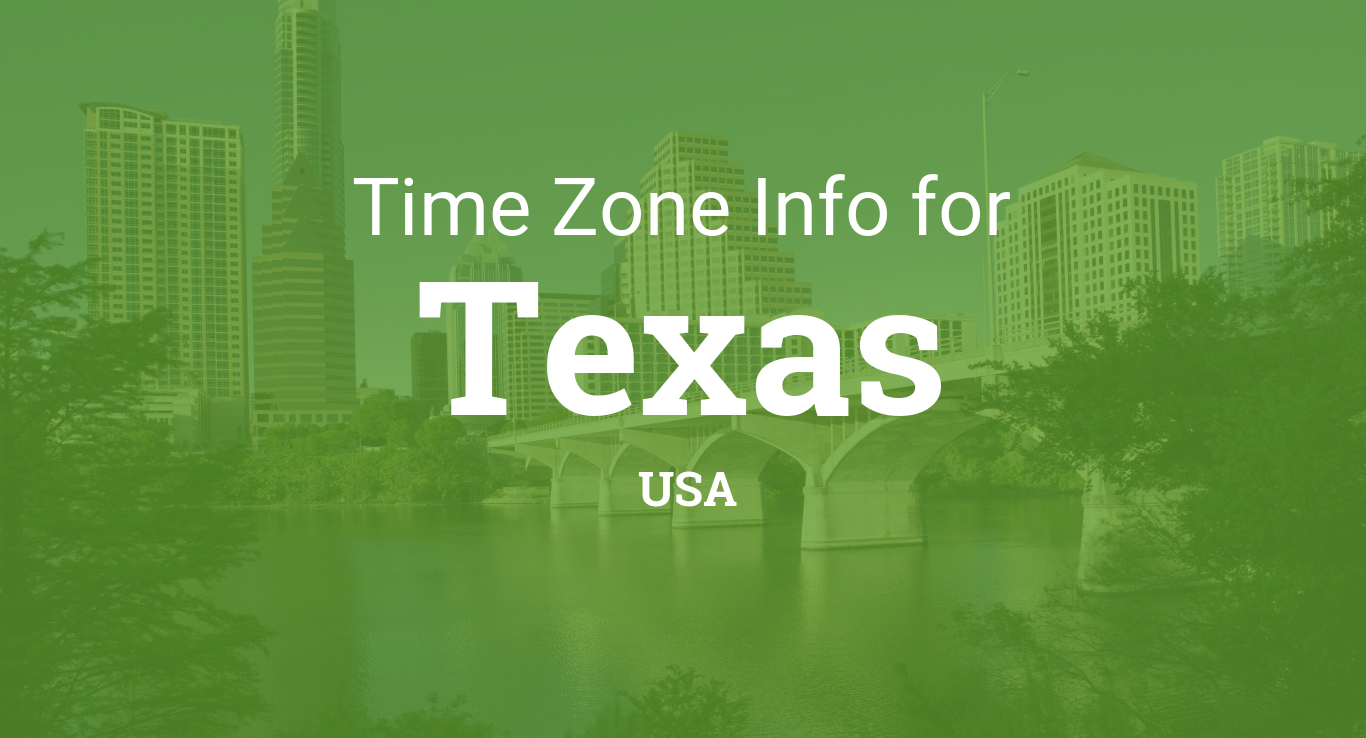 Time Zones In Texas United States - Map of us time zones texas
