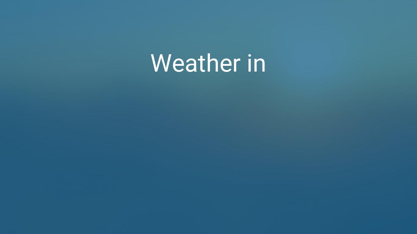Weather for Stockholm, Sweden