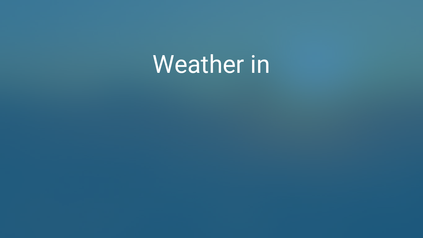 Weather In Morocco