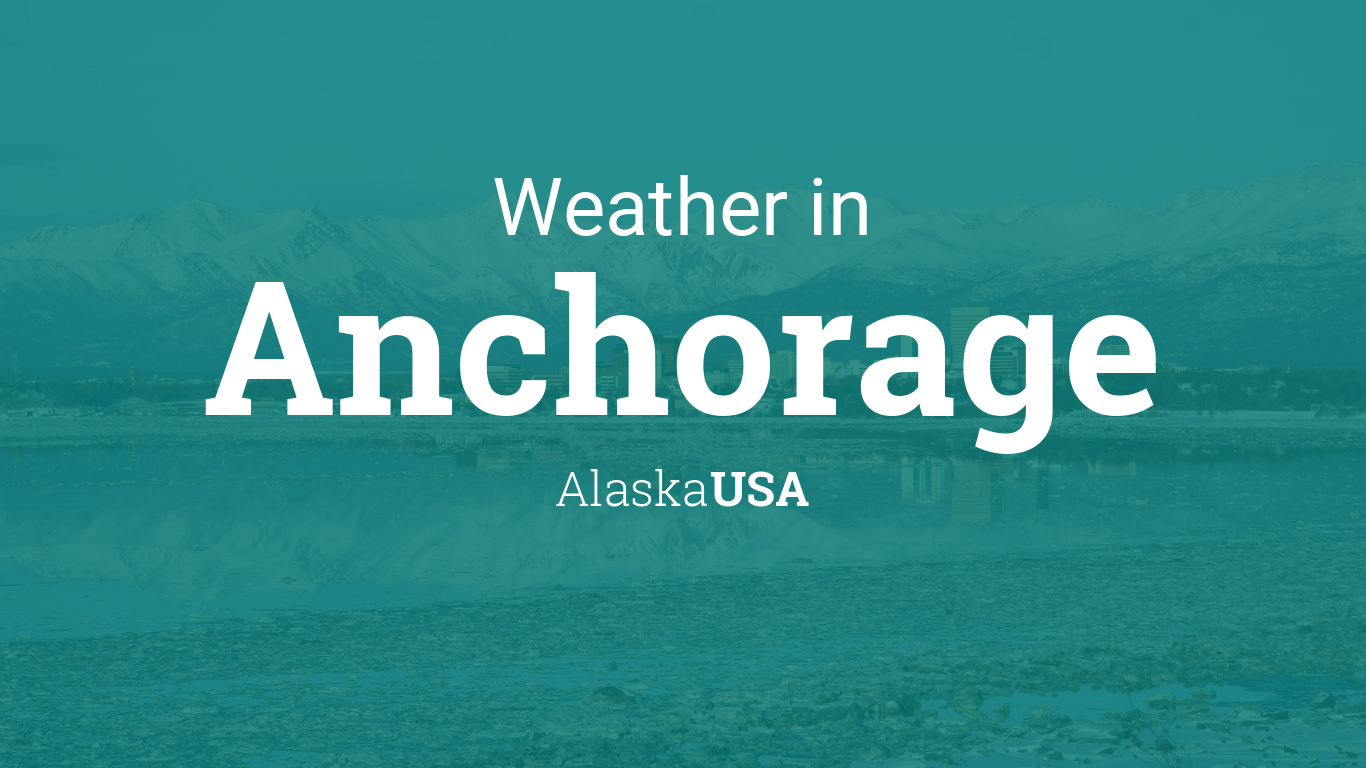 Weather For Anchorage Alaska USA - Us temperature map abbreviations locations