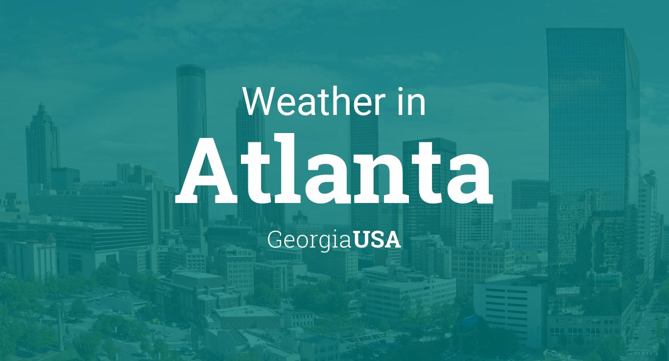Weather For Atlanta Georgia USA - Us weather drive map