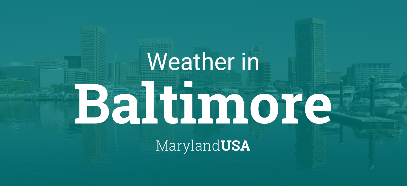 Weather For Baltimore Maryland USA - Us temperature map abbreviations locations