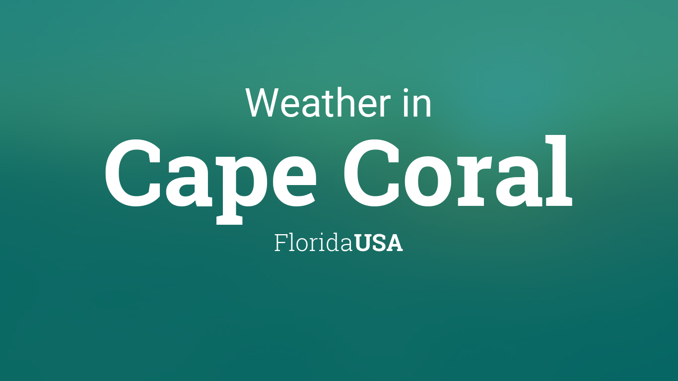 Generic Year Calendar : Weather for cape coral florida usa