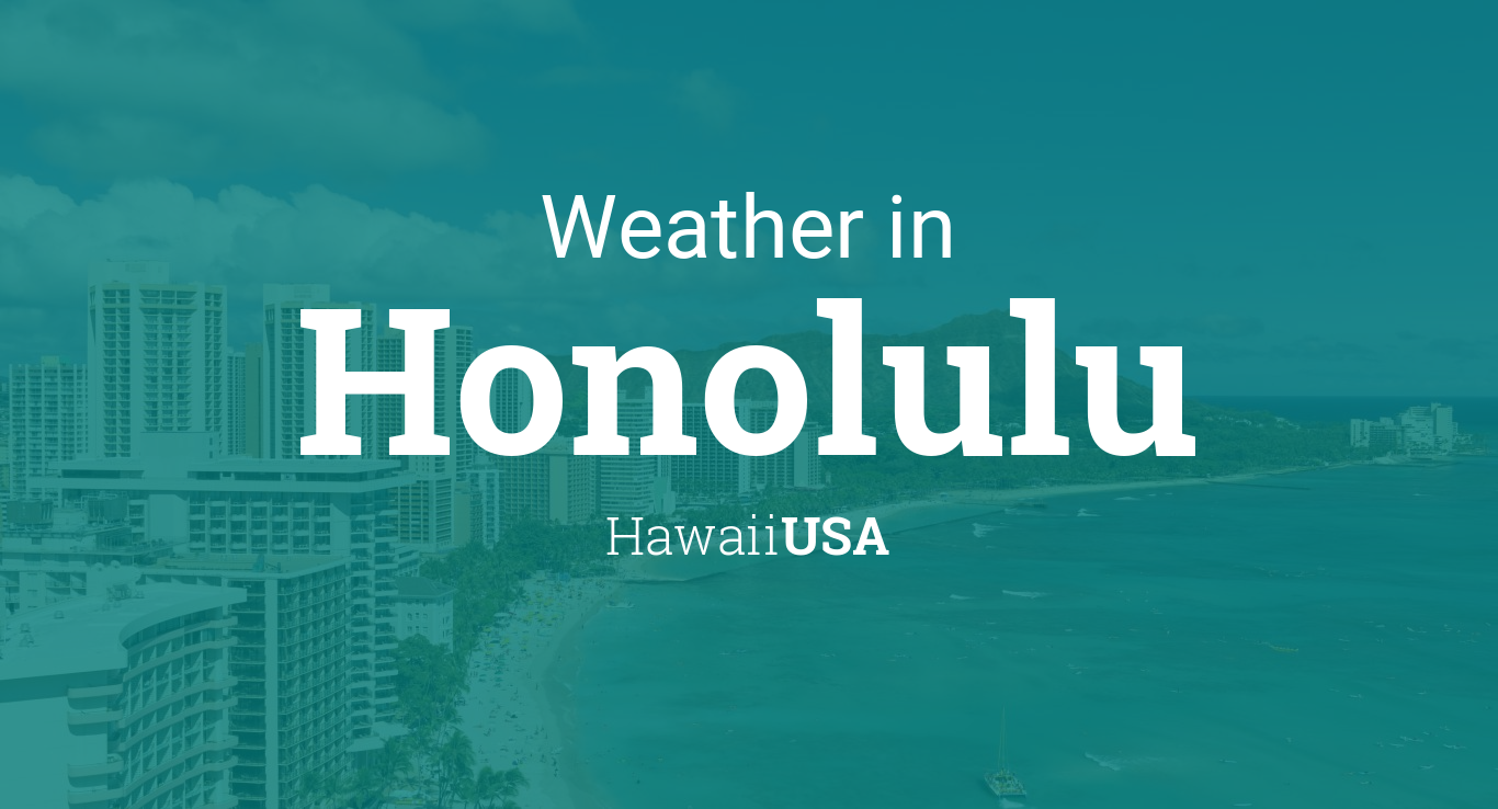 Weather For Honolulu Hawaii USA - Us temperature map abbreviations locations