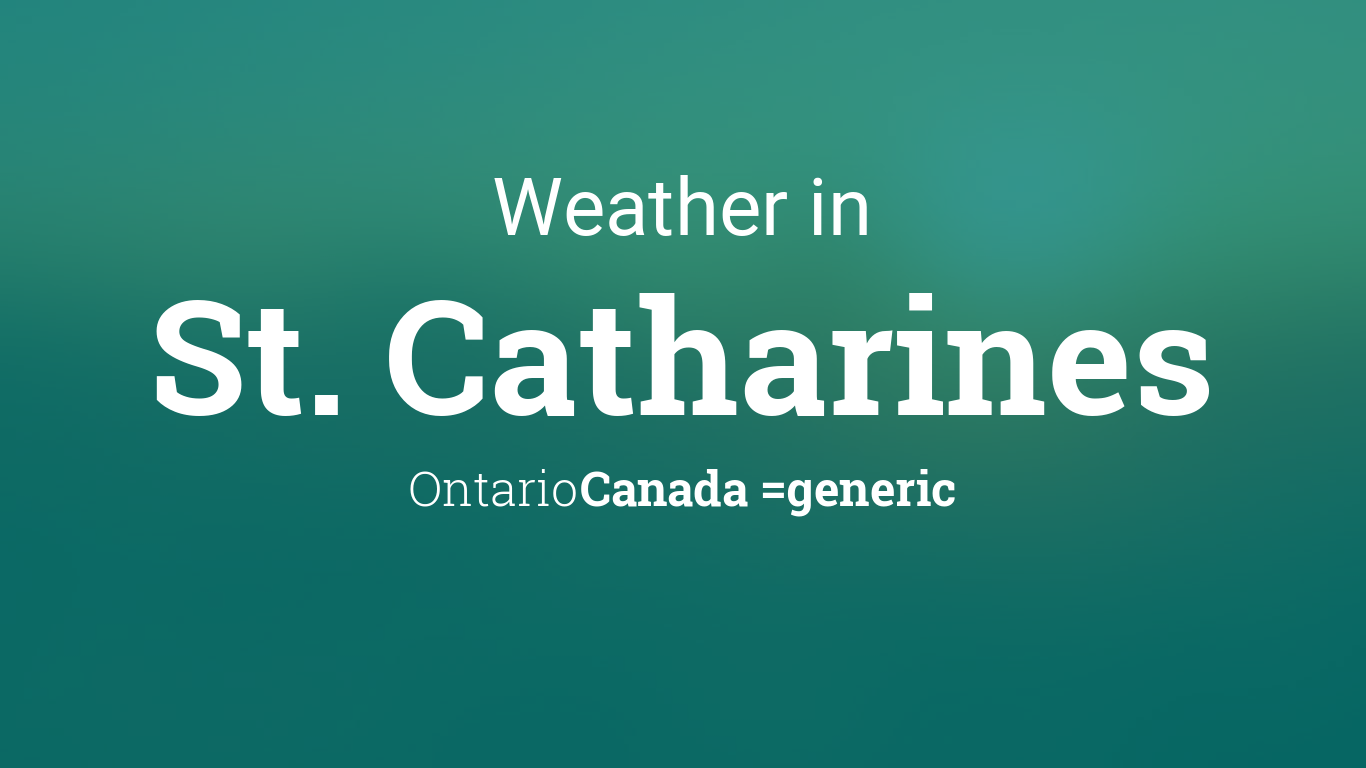 weather for st catharines ontario canada. Black Bedroom Furniture Sets. Home Design Ideas