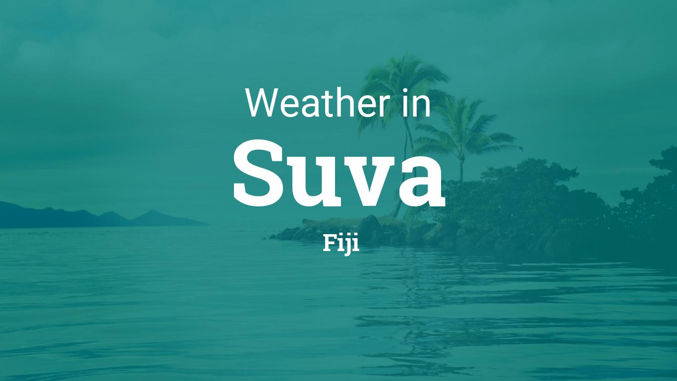 weather for suva, fiji
