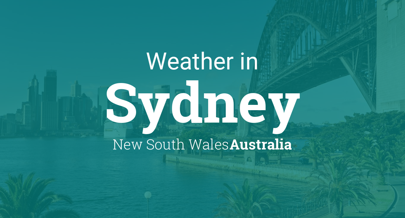 Weather For Sydney New South Wales Australia