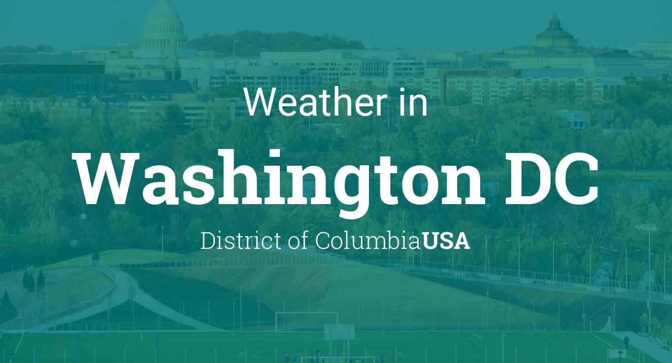 Weather for Washington DC, USA