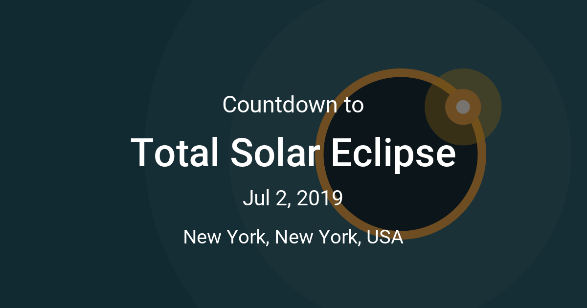 Total Solar Eclipse Countdown - Time since Jul 2, 2019 12:55