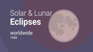 Calendario Lunare 1988.Solar And Lunar Eclipses Worldwide 1988