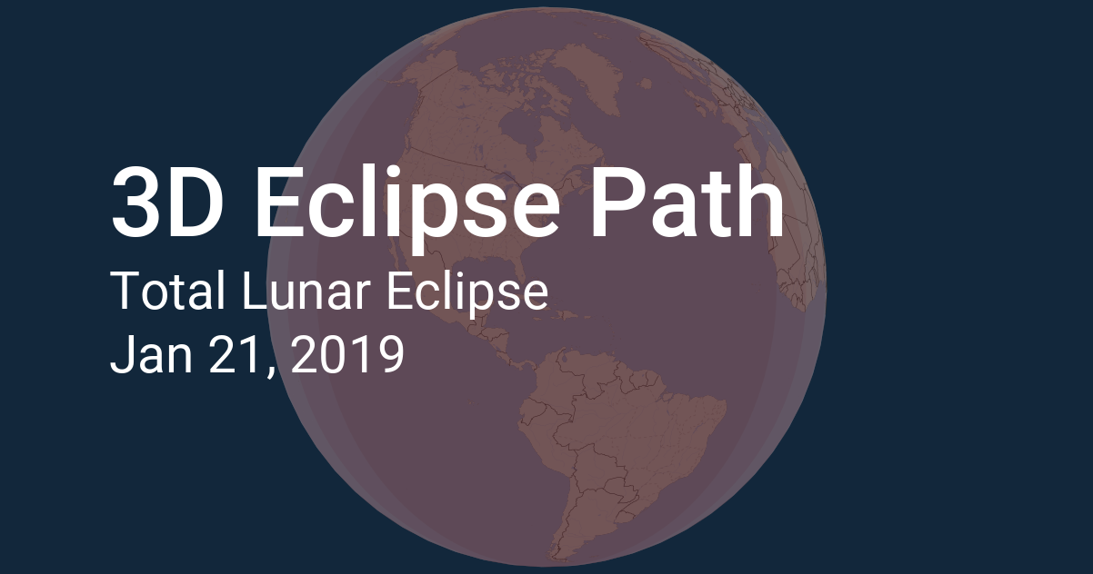 3d Eclipse Path Lunar Eclipse 2019 January 21
