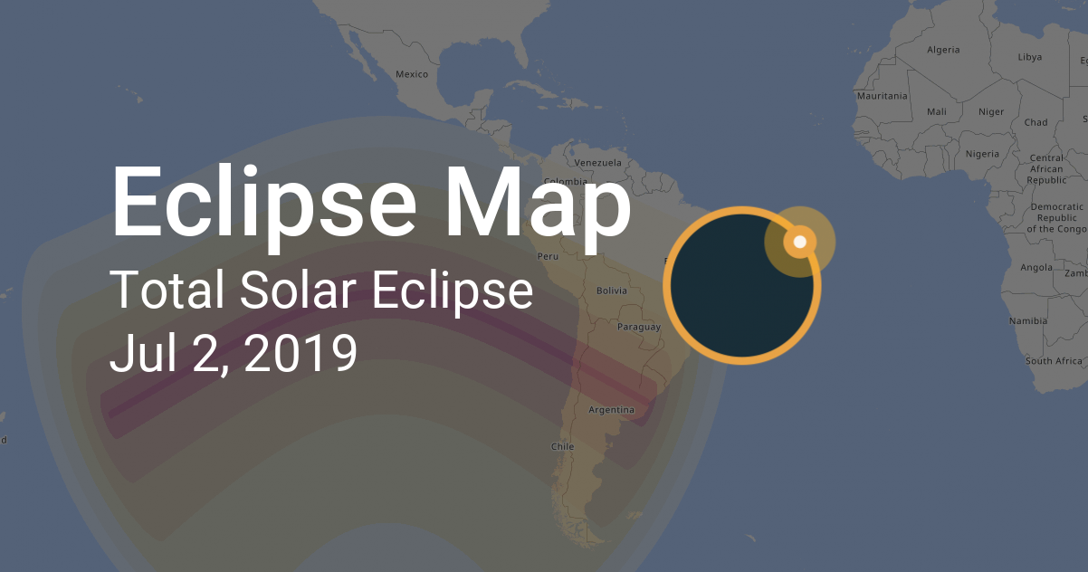 Calendario Julio 2019 Grande.Map Of Total Solar Eclipse On July 2 2019