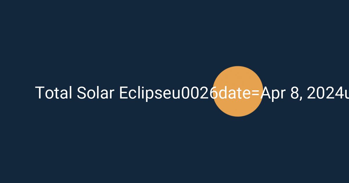 3D Eclipse Path Solar Eclipse 2024 April 8