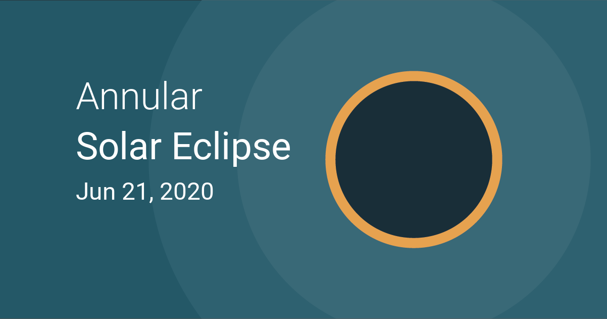 Eclipse 2020 New York Annular Solar Eclipse on June 21, 2020