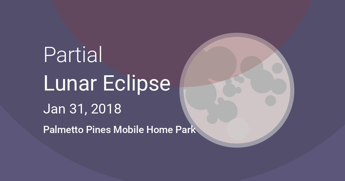 Eclipses Visible In Palmetto Pines Mobile Home Park Georgia USA