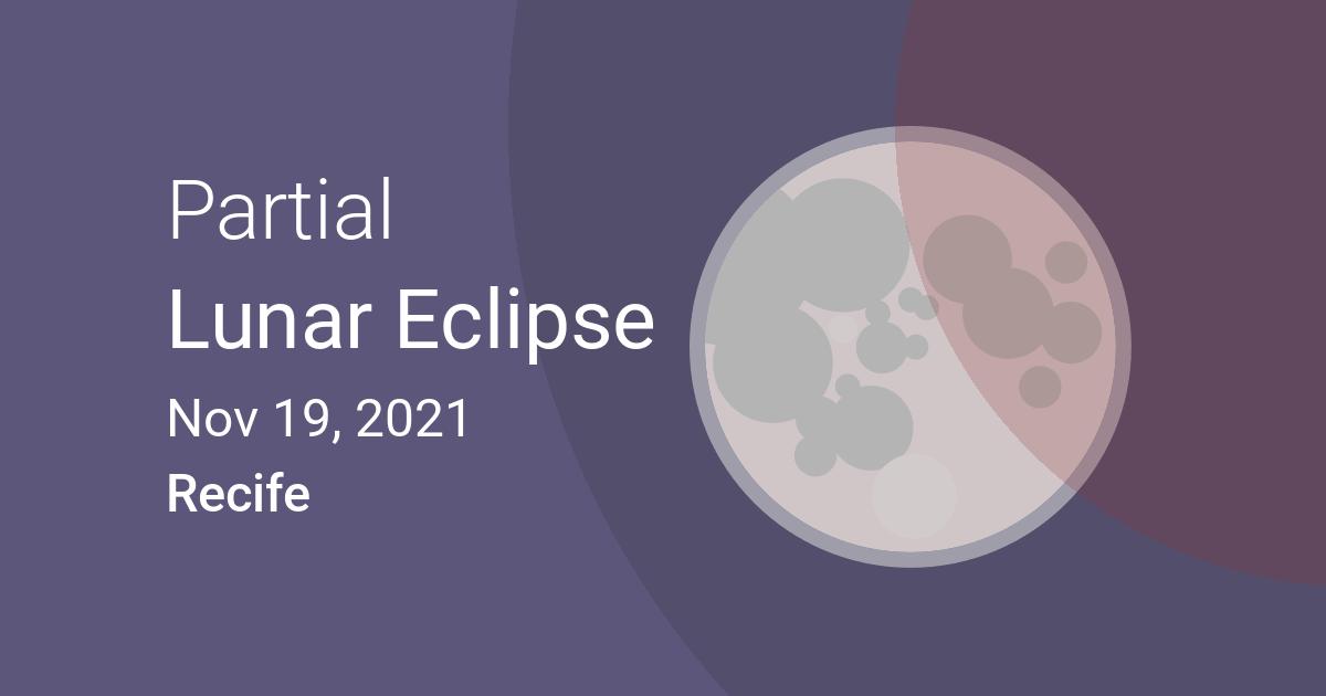 Eclipses visible in Recife, <b>Pernambuco</b>, <b>Brazil</b>