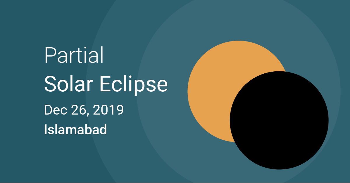 Eclipses visible in Islamabad, Pakistan