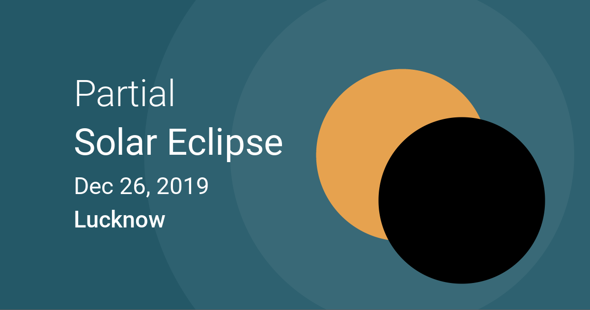 Eclipses visible in Lucknow, Uttar Pradesh, India