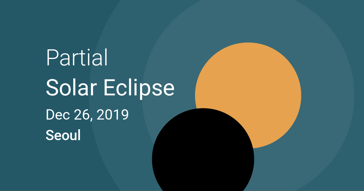 Eclipses visible in Seoul, South Korea