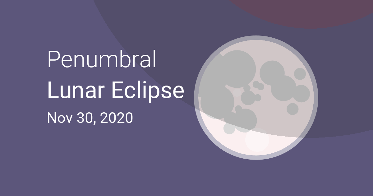 Penumbral Lunar Eclipse on November 29–30, 2020 – Where and