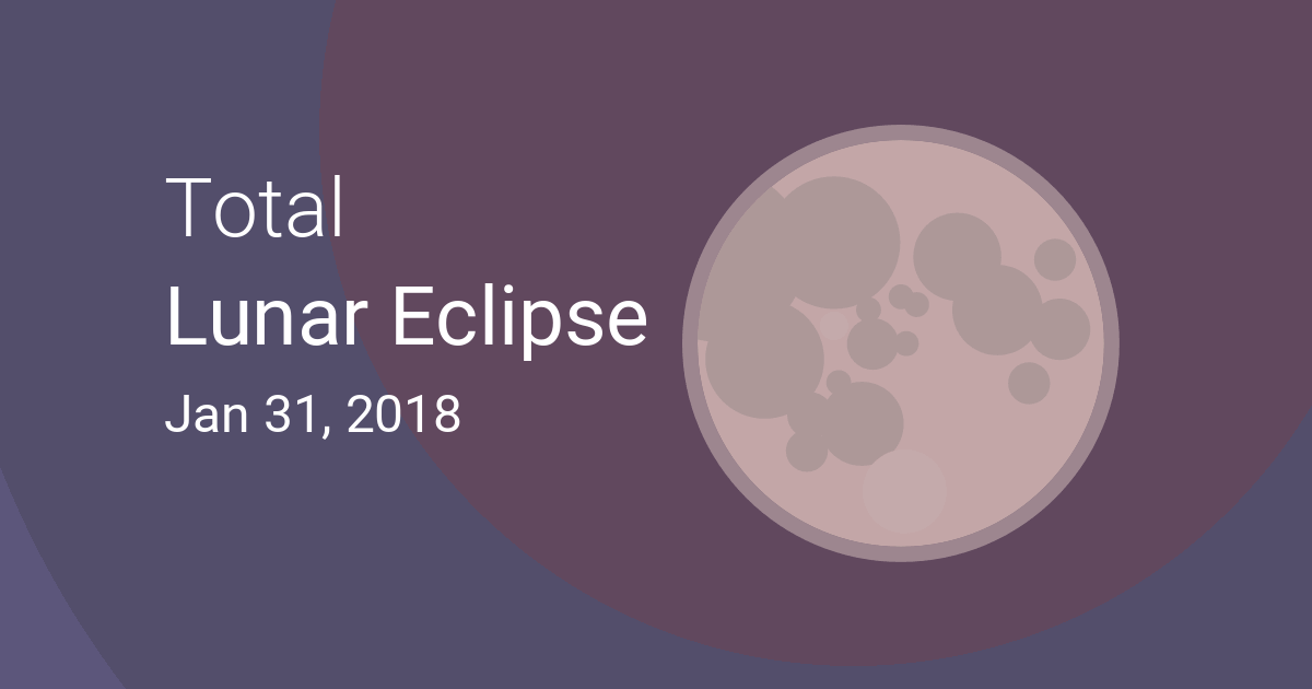 Total Lunar Eclipse On January Where And When To See - 31 jan
