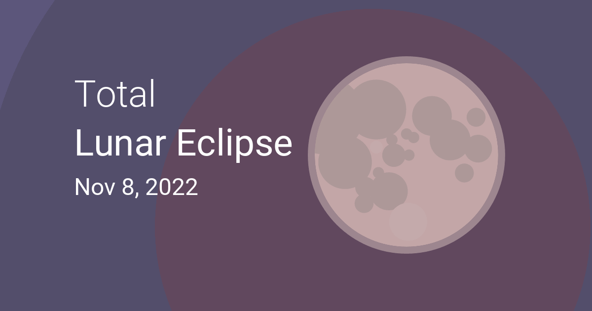 Moon Calendar November 2022.Total Lunar Eclipse On November 8 2022 Where And When To See