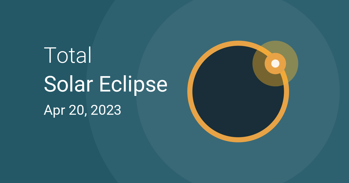April Calendar With Moon Phases : Total solar eclipse on april