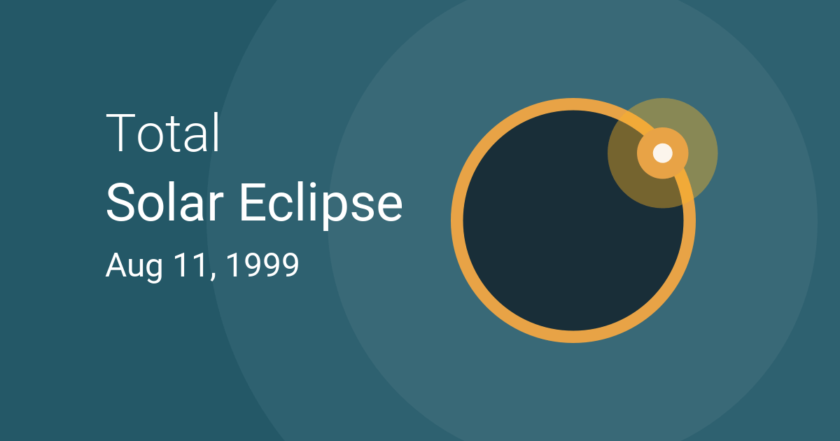 Total Solar Eclipse on August 11, 1999