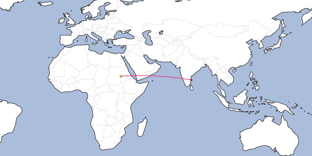Distance Between Chennai And Khartoum