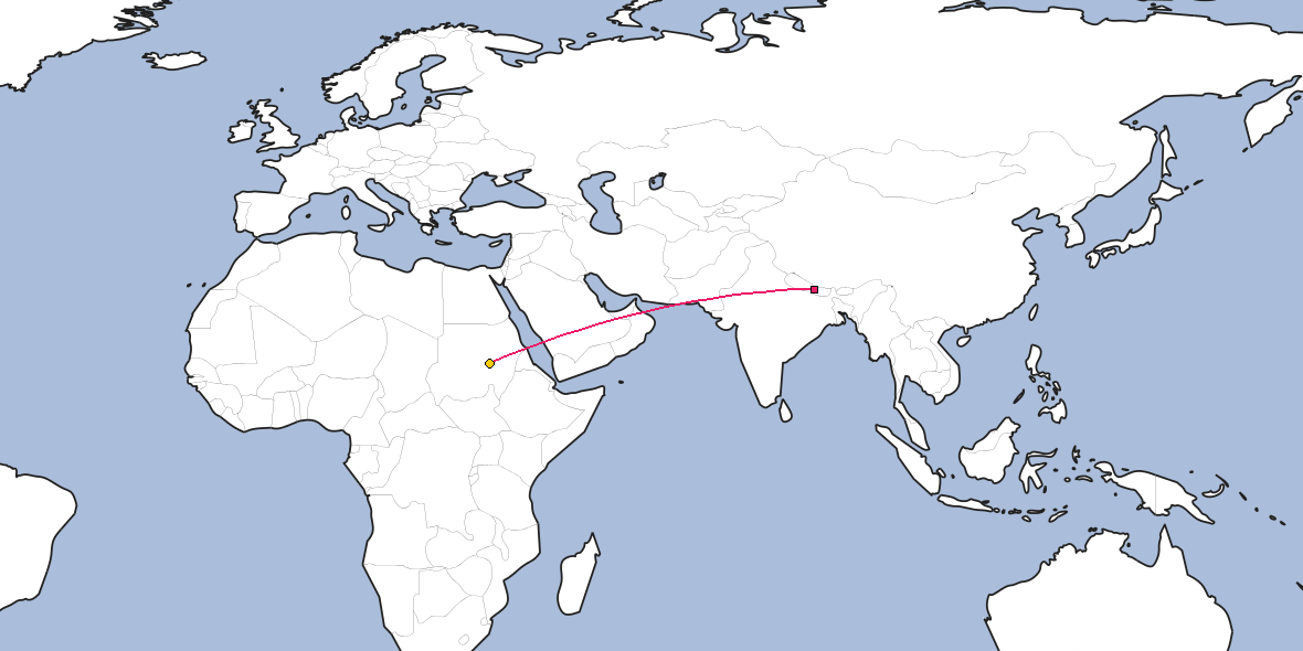 Distance Between Kathmandu And Khartoum