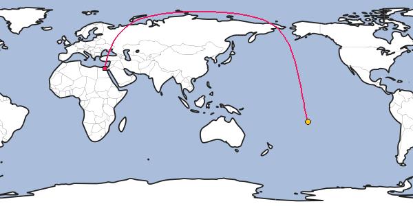 Distance Between Cairo And Vaitape Bora Bora