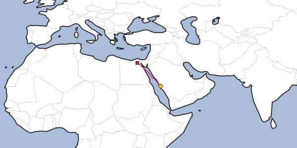 Distance between Cairo and Mh on